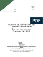 Ejemplo Modelo Memoria Actividades de Un Letrado en Practicas