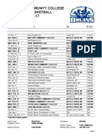 Kellogg Community College's 2016-17 Men's Basketball Schedule