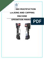 Locking and Capping Machine