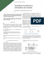 Transformadores de potencial y Transformadores de corriente