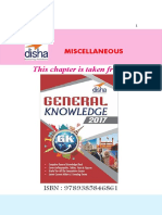 AFCAT General Knowledge Miscellaneous