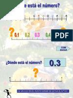 Juego Recta Numerica Decimales
