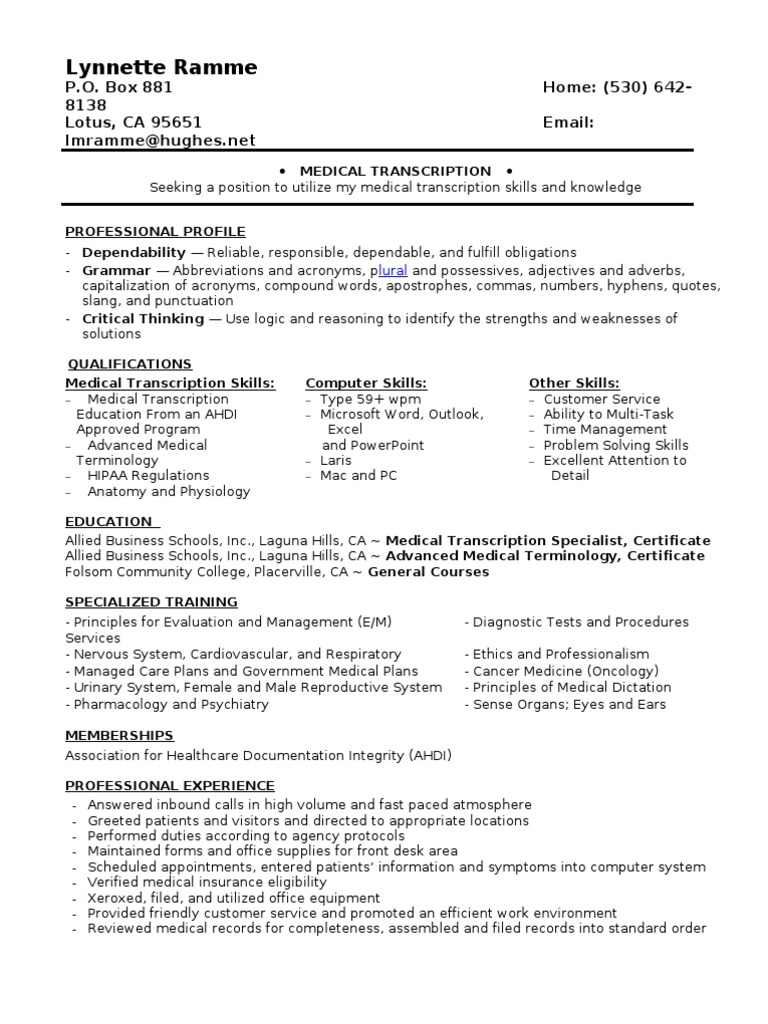 Jobswire resume of lmramme medicine service industries 1betcityfo Choice Image