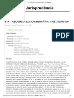 Stf - Recurso Extraordinário _ Re 352940 Sp