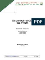 Anteproyecto Ley Del Artista