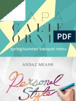 Andaz Napa Catering Menu