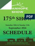 Stanhope Show Schedule 2016