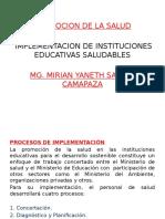 Implementacion de Insttiuciones Educativas Saludables-promo