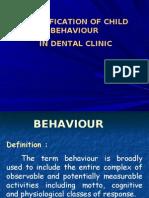 Classification of Child s Behaviour in Dental Clinic Pedo