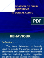Classification of Child s Behaviour in Dental Clinic Pedo