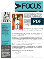 Focus Fall 16 Newsletter