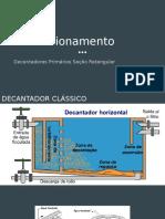 Dimensionamento Decantador Retangular