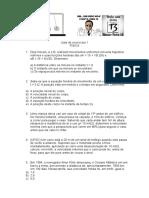 Lista Exercicio sobre MU e Muv Física