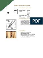 Especificaciones de La Pistola de Instalación