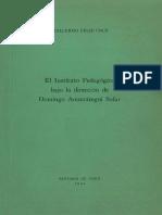El Instituto Pedagógico bajo al dirección de Domingo Amunátegui Solar