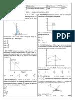 Lista 4 - Geometria Analítica Da Reta