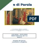 Sete di Parola - XXIII settimana C 2016.doc