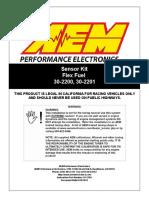 30-2201 Flex Fuel Content Sensor Kit