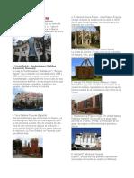 Arquitecturas, pinturas, esculturas