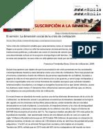 Víctor Ríos. La Dimensión Social de La Crisis de Civilización. El Viejo Topo