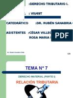 t.7 Relacion Tributaria