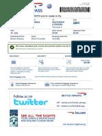 Boarding Pass BA0076 LAD LHR 022