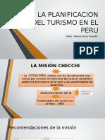 La Planificacion Del Turismo en El Peru