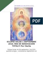 Eclipse Solar 1 Septiembre 2016