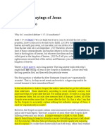 Authentic Sayings of Jesus