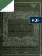 Précis de Microscopie - Langeron 1913