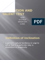 Inclination and Talent Test