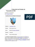 Constitución Federal de los Estados de Venezuela de 1811.doc