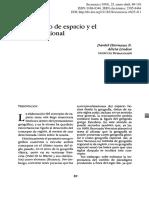 """Hiernaux-Lindón 1993 """"El concepto de espacio y el análisis regional"""""""