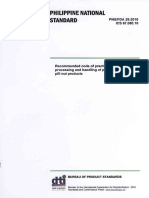 Recommended Code of Practice for the Processing and Handling of Processed Pili Products