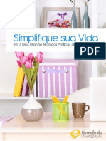 [FdO] Simplifique Sua Vida 5 Dias Usando Técnicas Simples de Organização