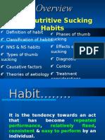 Non-nutritive Sucking Habits