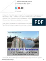 12'x30' DIY PVC Greenhouse For $360 - Lady Lee's Home