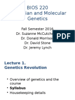 Lecture 1-Fall2016 Genetic Revolution