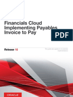 Oracle - Financials Cloud_Implementing Payables Invoice to Pay, R10 (E61401-01)(FAIPP)