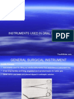 Instruments Used in Oral Surgery Oral Surgery