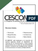 Programa CESCOM 2010