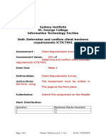 Determine and Confirm Client Business Requirements ICTICT401