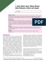 Diagnosis of Acute Kidney Injury Kidney Disease