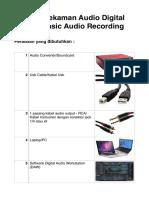 Tutorial Digital Audio Recording