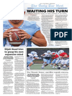 The Daily Tar Heel football preview for Sept. 2, 2016