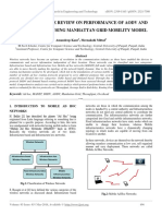 A Comprehensive Review on Performance of Aodv and Dsdv Protocol Using Manhattan Grid Mobility Model