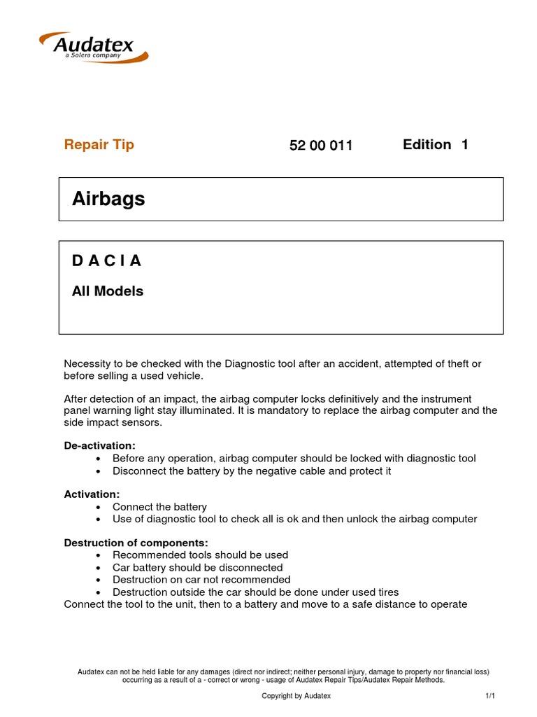 DACIA-REPAIR TIPS-COMPUTER AIRBAG pdf