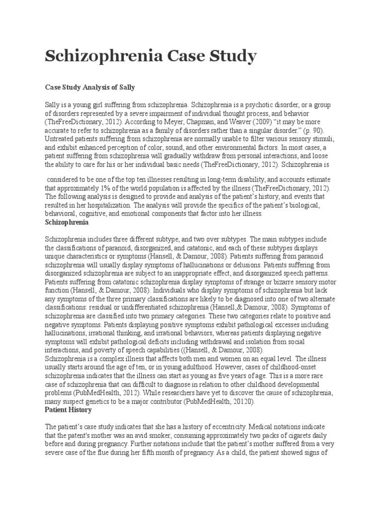 schizophrenia case study assignment