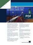 HFW Changes to the Saudi Arabian Labor Laws April 2016