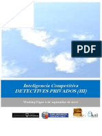 Inteligencia Competitiva. DETECTIVES PRIVADOS (III)